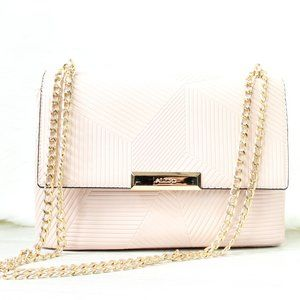 Gorgeous Blush Pink & Gold Chain Aldo Purse/Bag
